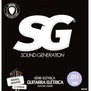 Encordoamento para guitarra SG Níquel 11-49 (.011)