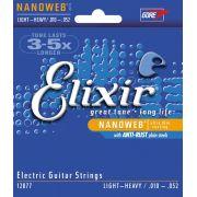 Encordoamento para guitarra Elixir Light Heavy 10-52 (.010)