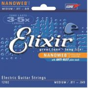 Encordoamento para guitarra Elixir Medium 11-49 (.011)