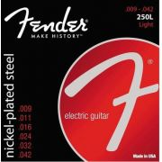 Encordoamento para guitarra Fender 250L Nickel-Plated Steel 09-42 (.009)