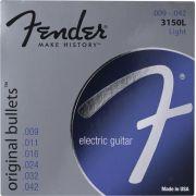 Encordoamento para guitarra Fender 3150L Original Bullets Pure Nickel 09-42 (.009)