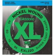 Encordoamento D'Addario EXL220 Super Light para baixo 4 cordas (.040)