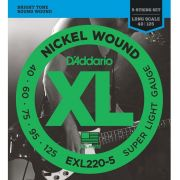 Encordoamento D'Addario EXL220-5 Super Light para baixo 5 cordas (.040)