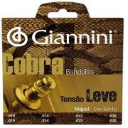 Encordoamento Giannini GESBN Série Cobra (Níquel) Tensão Leve para Bandolim