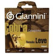 Encordoamento Giannini  GESCL Série Cobra (Níquel) Tensão Leve para Cavaquinho