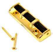 Roller nut dourado para guitarra (43mm)