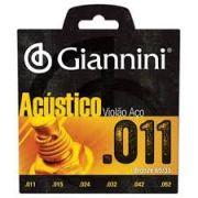 Encordoamento Giannini GESPW Série Acústico para Violão Aço (.011)