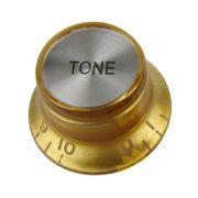 Knob Plástico Dourado com topo Prata P/ Guitarra SG - Tone
