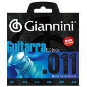 Encordoamento Giannini GEEGST-011 para guitarra c/ Corda Mi Extra (.011)