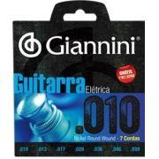 Encordoamento Giannini GEEGST-710 para guitarra 7 cordas c/ Corda Mi Extra (.010)