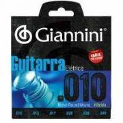 Encordoamento Giannini GEEGST-010 para guitarra c/ Corda Mi Extra (.010)