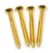 Kit c/ 4 parafusos (38mm x 4.2mm) dourados para braço (neck plate)