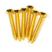 Parafuso dourado p/ ponte de guitarra (25mm x 3mm) - kit c/ 06 peças