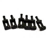 Carrinhos (saddles) pretos modelo vintage para guitarra Strato - Espaçamento 10.8mm - Kit com 6 peças - Sung-il (PS007)