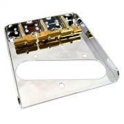 Ponte Cromada estilo Telecaster Vintage (3 carrinhos) para guitarra - Wilkinson by Sung-il (WTB)