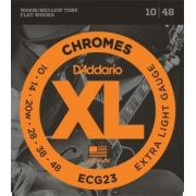 Encordoamento D'Addario ECG23 Chromes Extra Light 10-48 (.010)