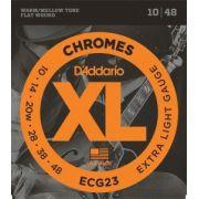 Encordoamento D'Addario ECG23 Chromes Extra Light 10-48 (.010)