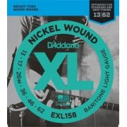 Encordoamento D'Addario  EXL158 Baritone Guitar Light 13-62 (.013)