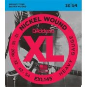 Encordoamento D'Addario EXL145 Heavy Plain 3rd 12-54 (.012)
