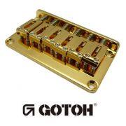 Ponte Dourada Fixa para guitarra - Gotoh (GTC102-GD)
