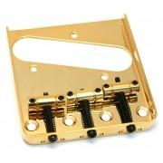 Ponte Dourada estilo Telecaster Vintage (3 carrinhos) para Guitarra - Sung-il (BT005)