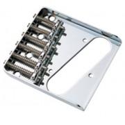 Ponte Cromada estilo Telecaster (6 carrinhos) para Guitarra - Sung-il (BT006)
