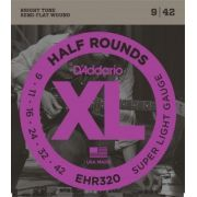 Encordoamento D'Addario EHR320 Half Rounds Super Light 9-42 (.009)