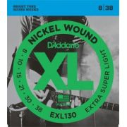 Encordoamento D'Addario EXL130 Extra Super Light 8-38 (.008)