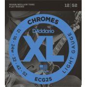 Encordoamento D'Addario ECG25 Chromes Light 12-52 (.012)
