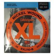Encordoamento D'Addario EXL110-B LIGHT .010-.046 C/CORDA MI EXTRA (.010)