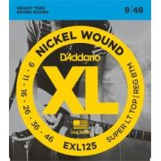 Encordoamento D'Addario EXL125 Super Light Top/Regular Bottom 9-46 (.009)