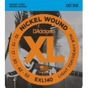 Encordoamento D'Addario EXL140 Light Top/Heavy Bottom 10-52 (0.10)