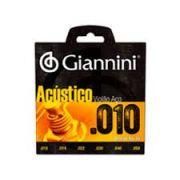 Encordoamento Giannini GESWAM Série Acústico para Violão Aço (.010)
