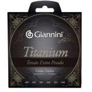 Encordoamento Giannini GENWXTA  Série Titanium Tensão Extra Pesada para Violão Nylon