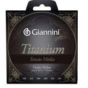 Encordoamento Giannini GENWTM Série Titanium Tensão Média para Violão Nylon