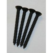 Kit c/ 4 parafusos (50mm x 4,8mm) pretos para braço (neck plate)