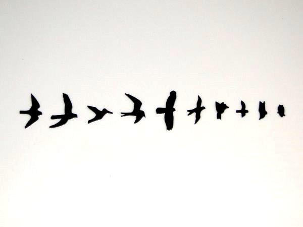 """Inlay/Marcações (dots) """"pássaro"""" (Birds/PRS) para braço - Acrílico preto (2mm) - (Pacote com 10 un)  - Luthieria Brasil"""