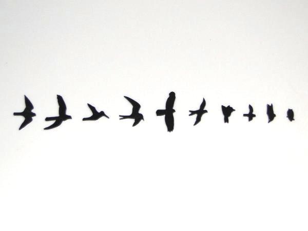 """Inlay/Marcações (dots) """"pássaro"""" (Birds/PRS) para braço - Acrílico preto perolado (2mm) - (Pacote com 10 un)  - Luthieria Brasil"""
