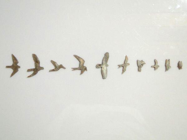 """Inlay/Marcações (dots) """"pássaro"""" (Birds/PRS) para braço - Acrílico caramelo perolado (2mm) - (Pacote com 10 un)  - Luthieria Brasil"""