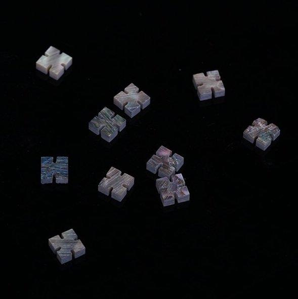 Marcações (dots) diamante (vazado) para braço - Abalone - 5mm x 5mm x 2mm (Pacote com 10 un)  - Luthieria Brasil