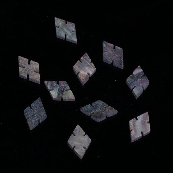 Marcações (dots) diamante (vazado) para braço - Abalone - 13mm x 8mm x 2mm (Pacote com 10 un)  - Luthieria Brasil