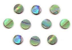 Marcações (dots) redondas para braço - Abalone - 6mm x 2mm (Pacote com 10 un)  - Luthieria Brasil