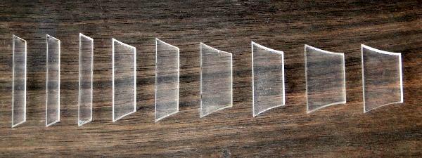 Marcações (dots) para braço de Les Paul/SG - Acrílico transparente (3mm) (Pacote com 9 un)  - Luthieria Brasil
