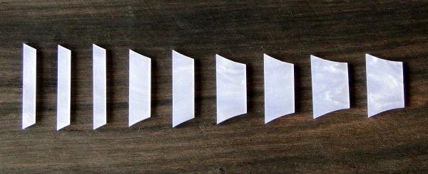 Marcações (dots) para braço de Les Paul/SG - Acrílico branco perolado (2mm) (Pacote com 9 un)  - Luthieria Brasil