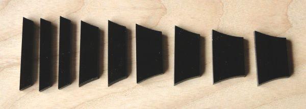 Marcações (dots) para braço de Les Paul/SG - Acrílico Preto (3mm) (Pacote com 9 un)  - Luthieria Brasil