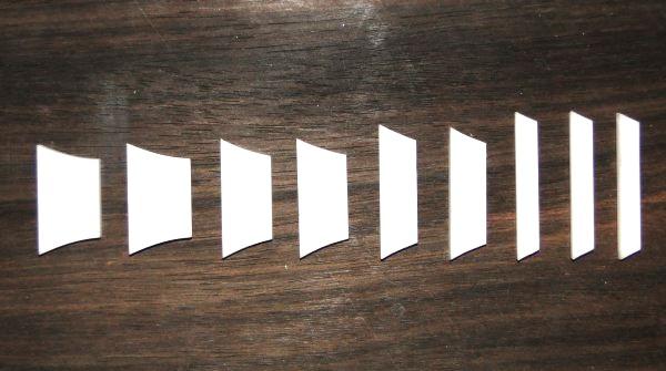 Marcações (dots) para braço de Les Paul/SG - Acrílico Branco (3mm) (Pacote com 9 un)  - Luthieria Brasil