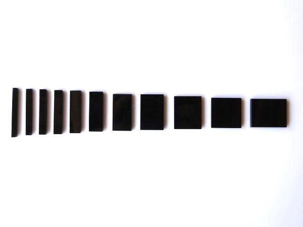 Marcações (dots) para braço retangular (Padrão 1) - Acrílico preto (2mm) (Pacote com 11 un)  - Luthieria Brasil
