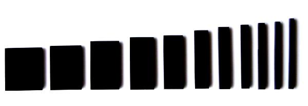 Marcações (dots) para braço retangular (Padrão 3) - Acrílico preto (3mm) (Pacote com 11 un)  - Luthieria Brasil