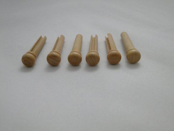 Pino de Boxwood para cavalete de violão folk (Kit com 6 unidades) - Class  - Luthieria Brasil