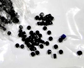 Marcações (dots) redondas para braço - Acrílico preto - 6mm x 3mm (Pacote com 12 un)  - Luthieria Brasil